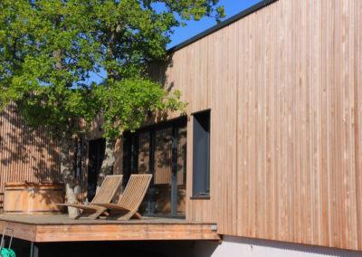 Terrasse et bain japonais
